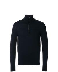 Maglione con zip blu scuro di Burberry