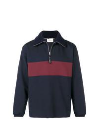 Maglione con zip blu scuro di Drôle De Monsieur