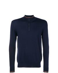 Maglione con zip blu scuro di Etro