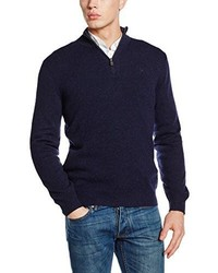 Maglione con zip blu scuro di Hackett London