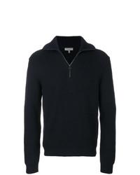 Maglione con zip blu scuro di Lanvin