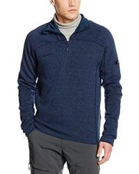 Maglione con zip blu scuro di Mammut