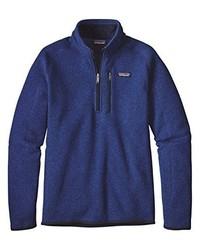 Maglione con zip blu scuro di Patagonia