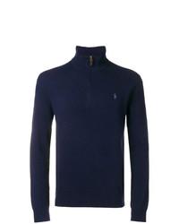 Maglione con zip blu scuro di Polo Ralph Lauren
