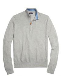 Maglione con zip grigio