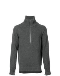 Maglione con zip grigio scuro di Burberry