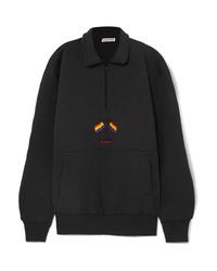 Maglione con zip nero