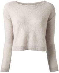 Maglione corto grigio