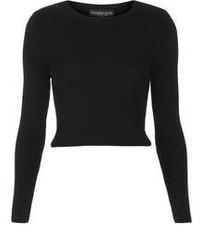 Maglione corto nero
