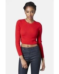 Maglione corto rosso