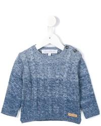 Maglione di lana lavorato a maglia azzurro di Tartine et Chocolat