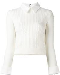 Maglione di lana lavorato a maglia bianco di Alice + Olivia