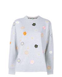 Maglione girocollo a fiori grigio di Kenzo