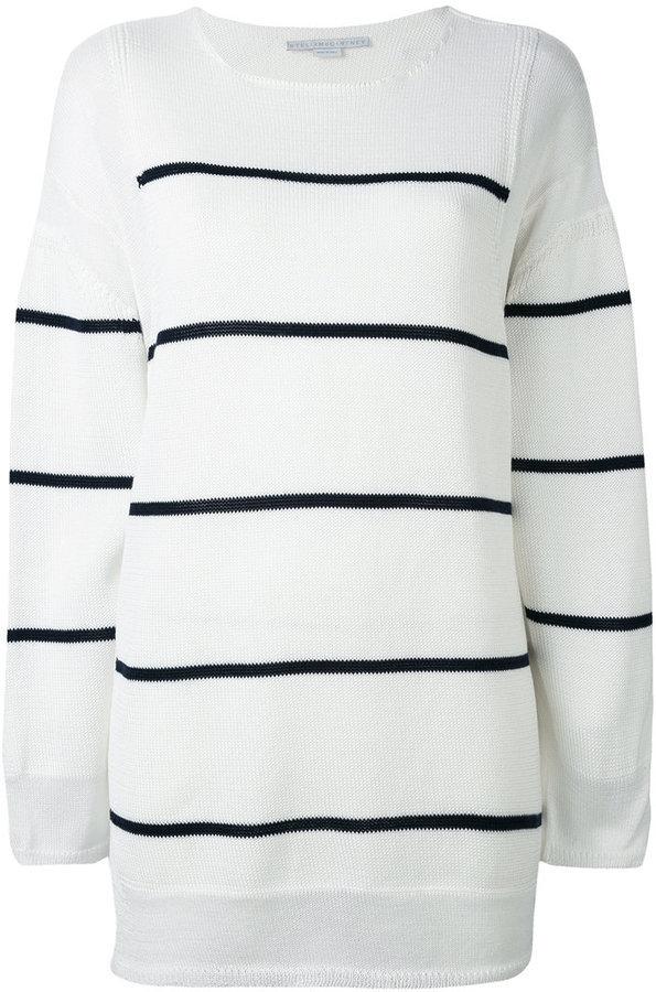 pensieri su acquisto genuino acquista per il meglio €587, Maglione girocollo a righe orizzontali bianco e nero di Stella  McCartney