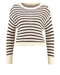 Maglione girocollo a righe orizzontali bianco di Ralph Lauren