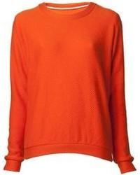 Maglione girocollo arancione