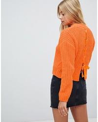 Maglione girocollo arancione di Miss Selfridge