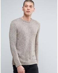 Maglione girocollo beige di Minimum