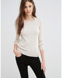 Maglione girocollo beige di Sisley