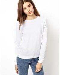 Maglione girocollo bianco di Asos