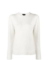 Maglione girocollo bianco di Cashmere In Love