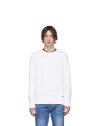 Maglione girocollo bianco di DSQUARED2
