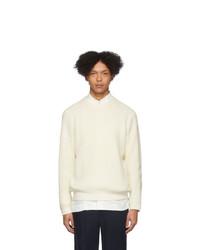 Maglione girocollo bianco di Issey Miyake Men