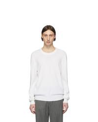 Maglione girocollo bianco di Maison Margiela