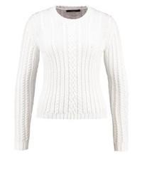 Maglione girocollo bianco di Max Mara
