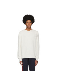 Maglione girocollo bianco di Moncler