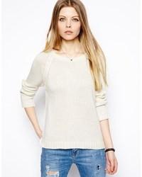 Maglione girocollo bianco di Vila