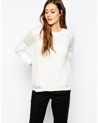 Maglione girocollo bianco di Warehouse