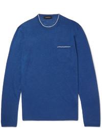 Maglione girocollo blu