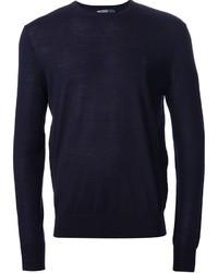 Maglione girocollo blu scuro
