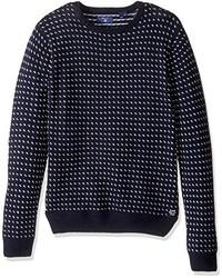 Maglione girocollo blu scuro di Gant