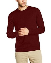 Maglione girocollo bordeaux di Jack & Jones