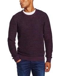 Maglione girocollo bordeaux di Lee