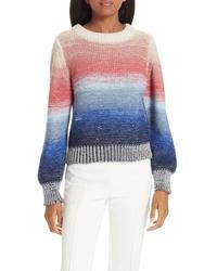 Maglione girocollo effetto tie-dye multicolore