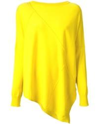 Maglione girocollo giallo