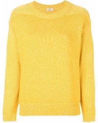 Maglione girocollo giallo di Closed