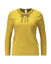 Maglione girocollo giallo di Derhy