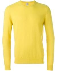 Maglione girocollo giallo di Eleventy