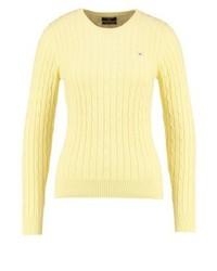 Maglione girocollo giallo di GANT