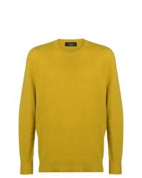 Maglione girocollo giallo di Maison Flaneur