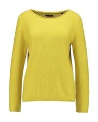 Maglione girocollo giallo di Marc O'Polo