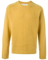 Maglione girocollo giallo di Marni