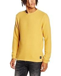 Maglione girocollo giallo di Only