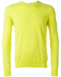 Maglione girocollo giallo di Paolo Pecora