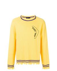 Maglione girocollo giallo di Riccardo Comi