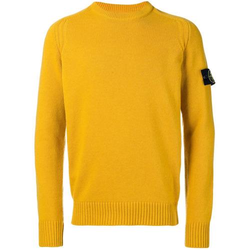 more photos 8f2a5 8d7ec €209, Maglione girocollo giallo di Stone Island